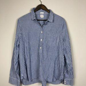 J Crew Boy Fit Blue Stripe Popovers Shirt XXL